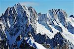 Aiguille Verte from Aiguille du Midi, Chamonix, France