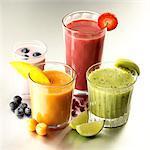 Palette von Frucht-smoothies