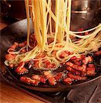 Making Spaghetti Carbonara