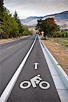 Cycling Lane on Road, Ashland, Oregon, USA