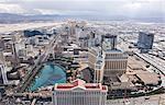 Vue aérienne du Las Vegas Strip, Las Vegas, Nevada, USA
