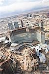 Vue aérienne de la Construction du CityCenter, Las Vegas, Las Vegas, Nevada, USA
