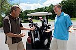 Father and Son at Golf Course, Burlington, Ontario, Canada