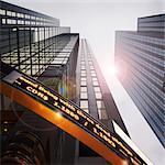 En regardant vers le haut édifice Reuters, Toronto, Ontario, Canada