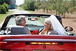 Newlyweds in Convertible, Niagara Falls, Ontario, Canada