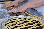 Woman Baking a Jam Tart, Cerreto Laziale, Tivoli, Rome, Italy