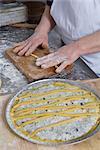 Woman Baking a Tart, Cerreto Laziale, Tivoli, Rome, Italy