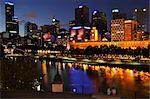 Melbourne Central Business District, Yarra River, Melbourne, Victoria, Australia