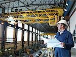 Ingénieur au-dessus de Turbine Hall