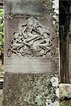 Sculptural Relief, Bayon Temple, Angkor Thom, Angkor, Cambodia