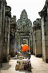 Buddhastatue am Bayon Tempel, Angkor Thom, Angkor, Kambodscha