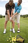 Man Learning How to Golf, Burlington, Ontario, Canada