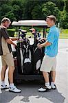 Father and Son Golfing, Burlington, Ontario, Canada