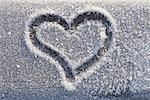 Heart Shape in Frosted Window