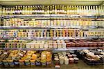 Warenwirtschaftssystem im Lebensmittelgeschäft, Granville Island, Vancouver, BC, Kanada