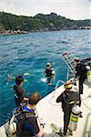 Scuba diving at similan islands