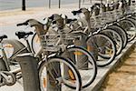 Velib bicycles in paris