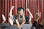 Graduate giving speech