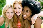 Friendship. Teenage girls hugging.