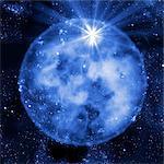 Supernova explosion, computer artwork. Supernovas are the explosive deaths of massive stars.