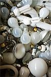 Tas d'ampoules électriques, gros plan