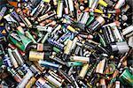 Utilisé des batteries, close-up, plein cadre