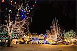 Lumières de Noël dans la ville bavaroise sur le thème de Leavenworth, Washington, USA
