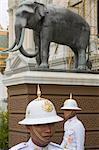 Gardes au Grand Palais, Bangkok, Thaïlande
