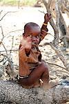 Himba Boy Waving, Opuwo, Namibia