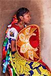 Purepecha Young Woman, Festival El Levantamiento del Nino Dios, Sevina, Michoacan, Mexico