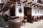Cuivre usine et magasin, Santa Clara del Cobre, Michoacan, Mexique