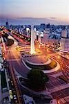 El Obelisco, Avenida 9 de Julio, Buenos Aires, Argentina
