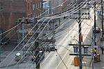 Overview of City Street, Toronto, Ontario, Canada