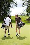 Men Walking on Golf Course, Burlington, Ontario, Canada