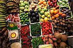 Stand de fruits et légumes, Barcelone, Catalogne, Espagne