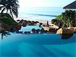 Infinity Pool at Rancho Banderas, Pacific Ocean in the Background, Puerto Vallarta, Mexico