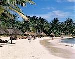 Plage, St Géran, Mauritius, océan Indien, Afrique