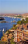 Fleuve du Nil, Assouan, en Égypte, en Afrique du Nord