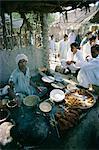 Food stall, Mango Pier, Karachi, Sind (Sindh), Pakistan, Asia