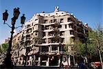 Casa Milà Gaudi (La Pedrera), Barcelone, Catalogne, Espagne, Europe