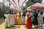 Passo par motifs, April Fair, Séville, Andalousie (Andalousie), Espagne, Europe