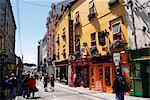 Façades colorées, Galway, comté de Galway, Connacht, Eire (République d'Irlande), Europe