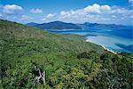 Vue depuis le belvédère de Cook, groupe Hayman Island, Whitsunday, Queensland, Australie