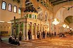 Sanctuaire de la tête de Jean le Baptiste, à l'intérieur de la mosquée des Omeyyades datant de 705 AD, Damas, Syrie, Moyen Orient