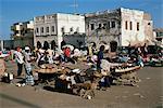 Outdoor bazaar scene, Djibouti City, Djibouti, Africa