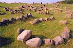 Lindholm Hoje, Viking grave site, near Alborg, Denmark, Europe