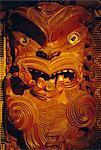 Maori carving sur meeting house, Musée d'Auckland, Auckland, North Island, Nouvelle-Zélande, Pacifique