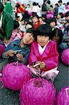 Lantern festival, Yoido Island district, Seoul City, South Korea, Asia