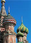 Cathédrale, la place rouge, Site du patrimoine mondial de l'UNESCO, Moscou, Russie, Europe Saint-Basile