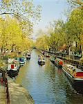 Péniches d'habitation à Little Venice sur le Canal de la régente, Maida Vale, Londres, Angleterre, RU